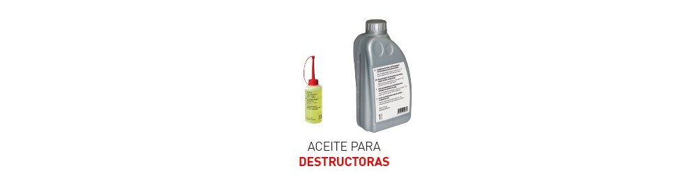 Aceite para Destructoras IDEAL
